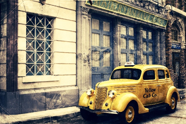 Old Yellow Cab Taxi